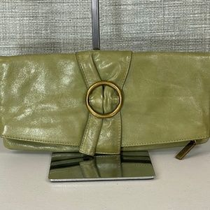 Hobo International Olive Green Clutch Bag